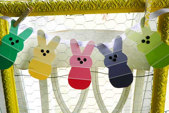 Paint Chip Easter Bunnies