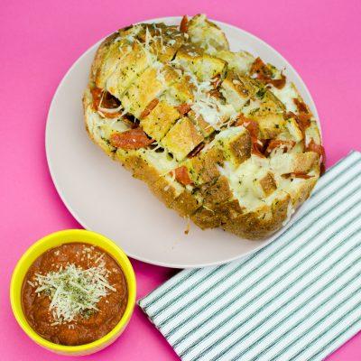 意大利辣香肠披萨拆开面包缩略图