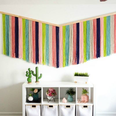 How to make a DIY Yarn Wall Hanging thumbnail
