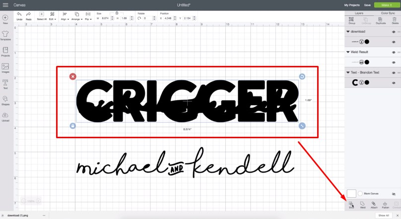 How To Knockout Text In Cricut Design Space - A Little Craft In Your Day