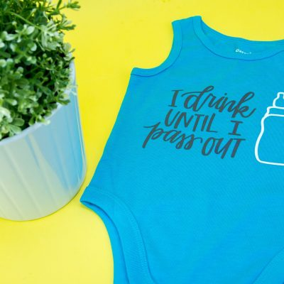 How To Iron-On a Onesie – Cricut Baby Shower Gift thumbnail