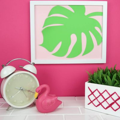 Easy Cricut Home Decor – Palm Leaf Wall Art thumbnail