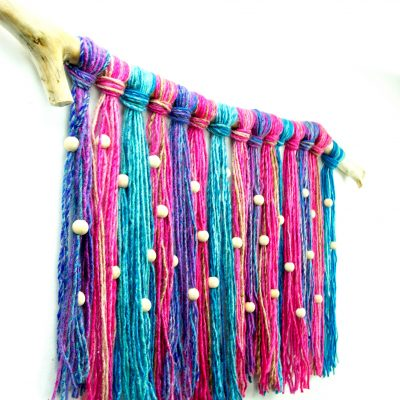 Recycled Beaded Yarn Wall Hanging thumbnail