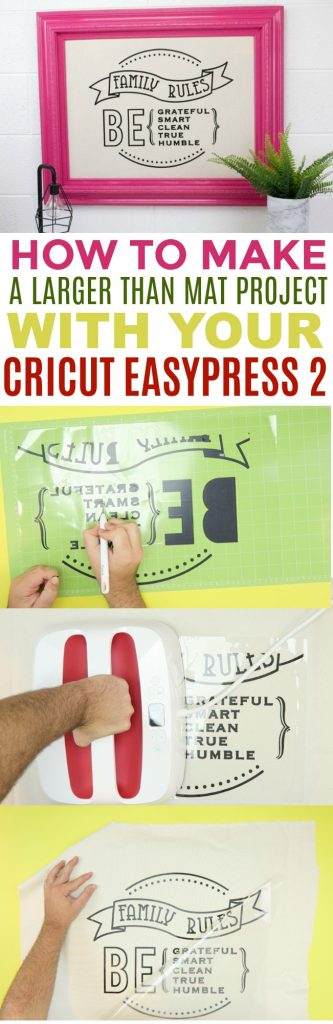 How To Make A Larger Than Mat Project With Your Cricut EasyPress 2