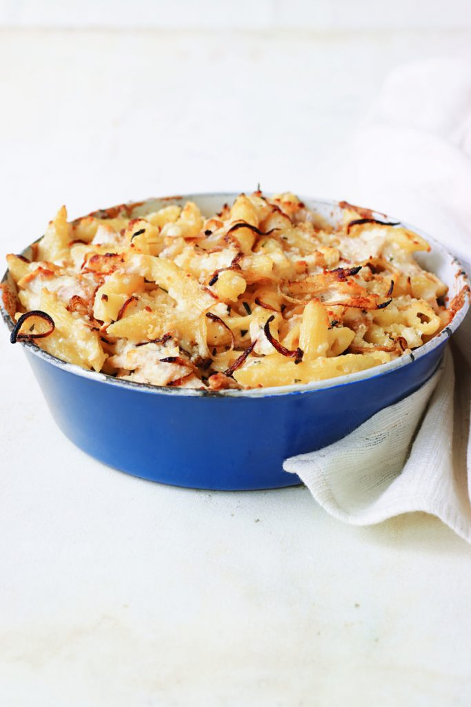 MACARONI AND CHEESE WITH CHICKEN