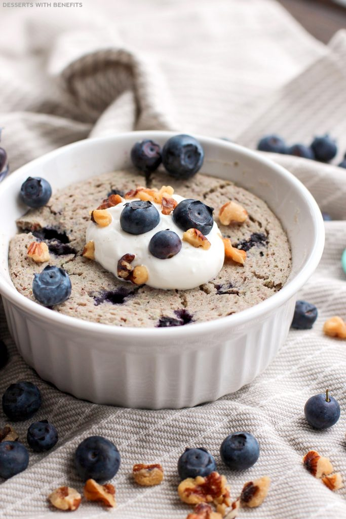 HEALTHY SINGLE-SERVING BLUEBERRY MICROWAVE MUFFIN