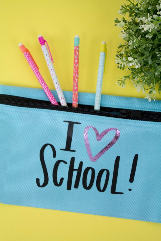 Pencil Case Iron-On Decal