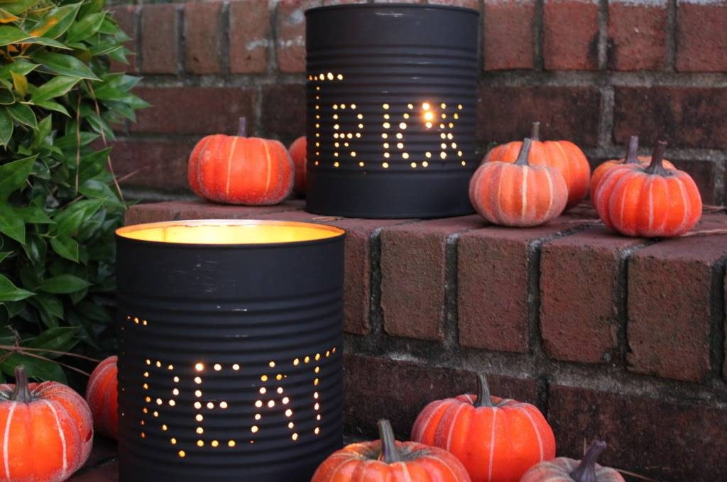 Do It Yourself! Halloween Tin Can Luminaries