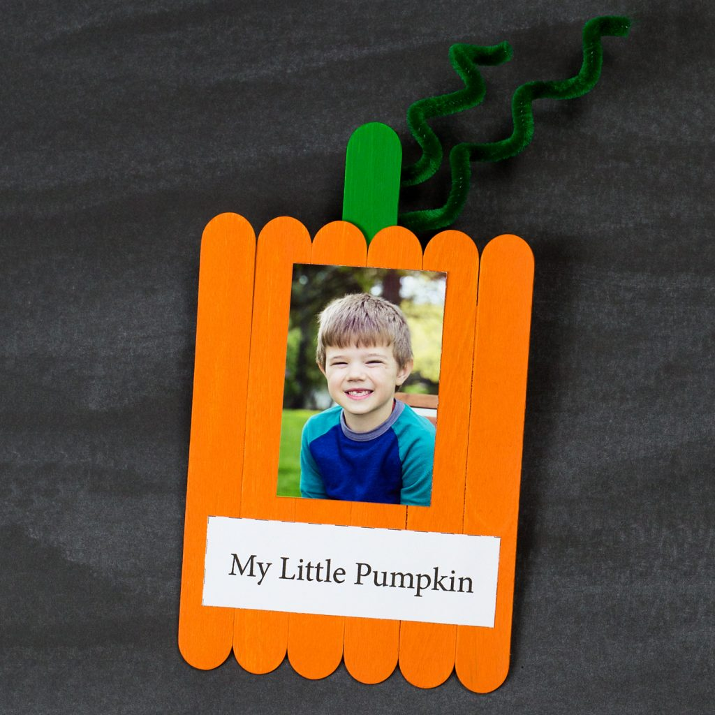 Sweet Popsicle Stick Pumpkin Keepsake