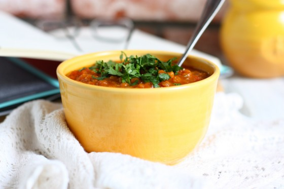 Chickpea, Butternut Squash, andRed Lentil Stew