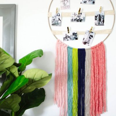 DIY Yarn Wall Hanging Photo Display thumbnail