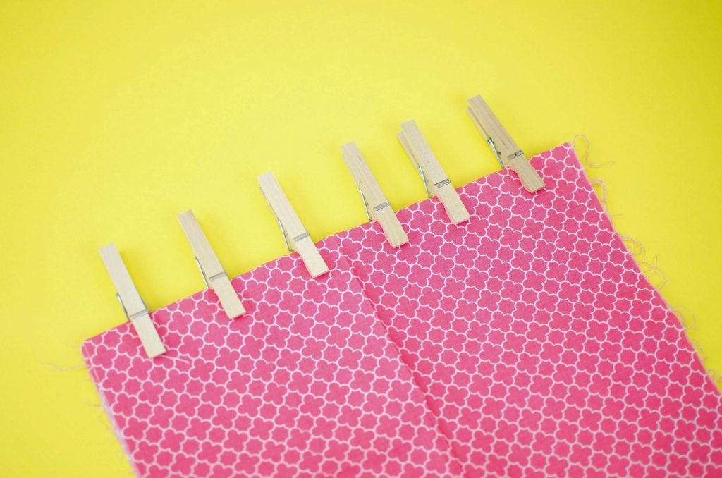 use clothespins as sewing clips