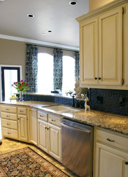 Cover An Ugly Backsplash