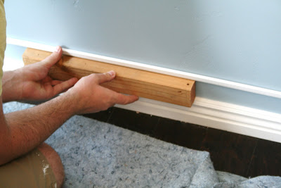 Easy Faux Thick Baseboard Trick