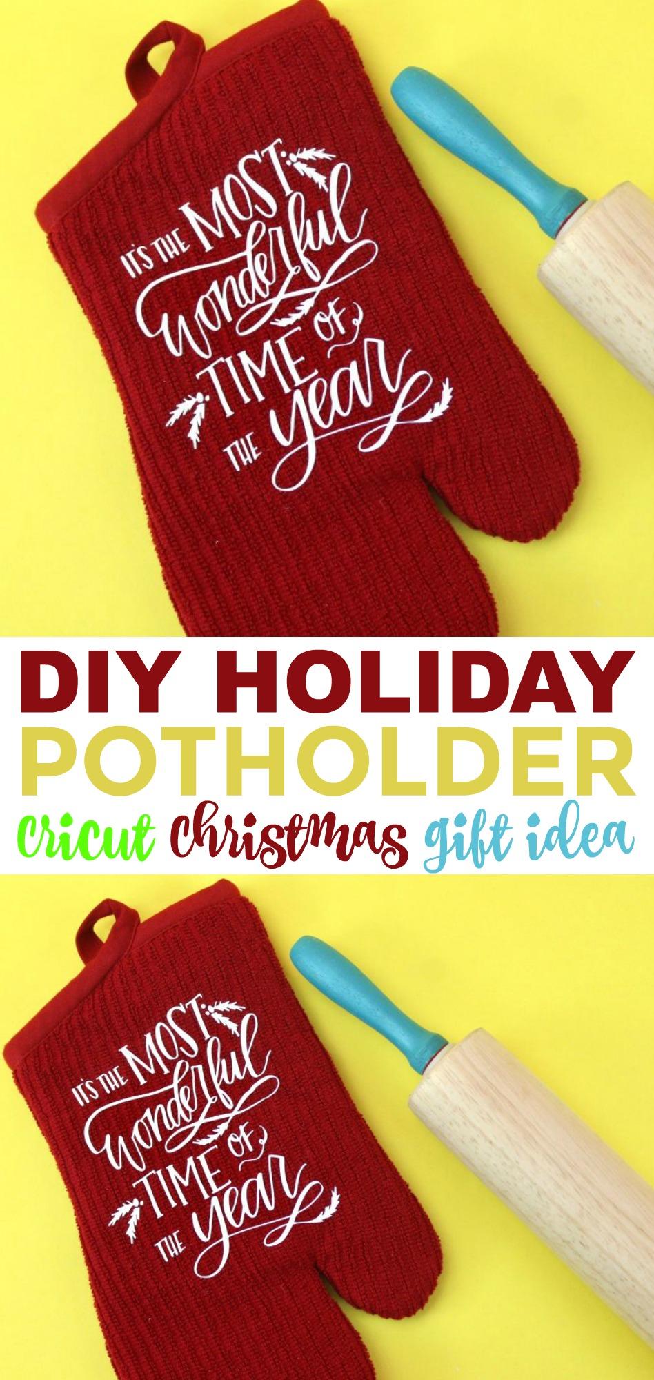 Little Christmas Gift Ideas.Diy Holiday Potholder Cricut Christmas Gift Idea A