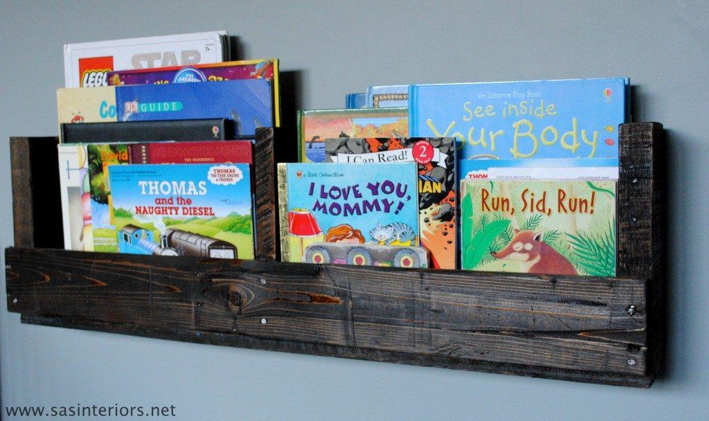 How To Make A Pallet Bookshelf