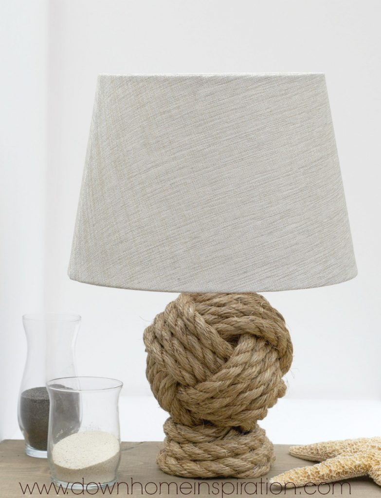 Pottery Barn Rope Knot Lamp