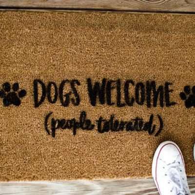 DIY Stenciled Doormat thumbnail
