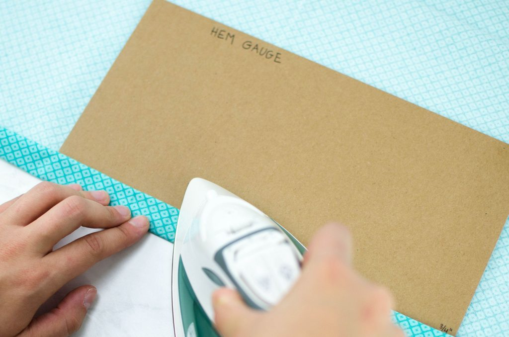 press your hem fold in place