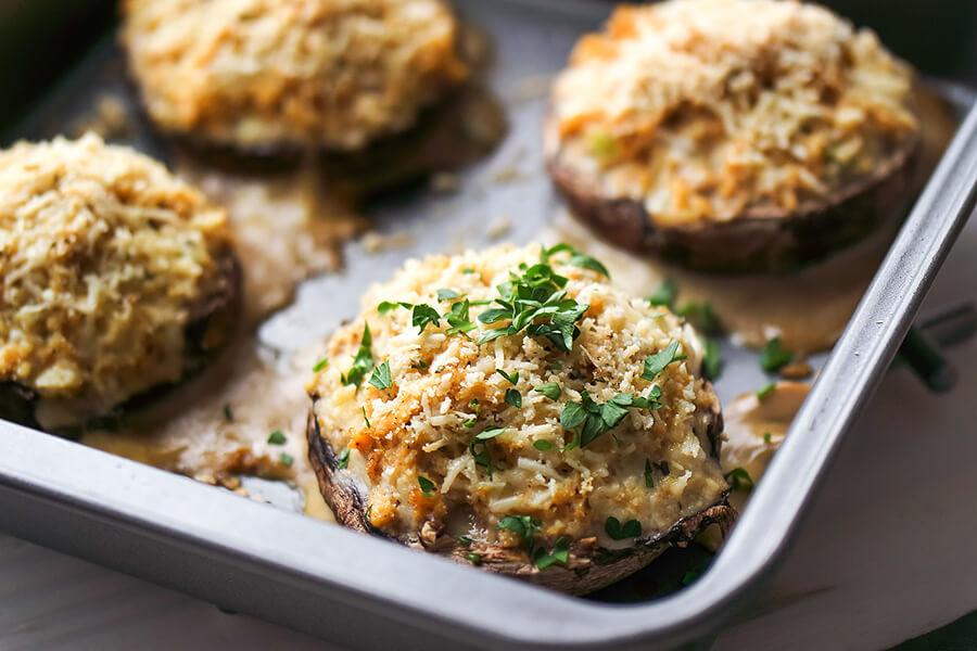 Crab Cake Stuffed Mushroom