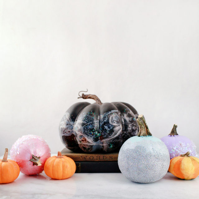 DIY IRIDESCENT PUMPKINS