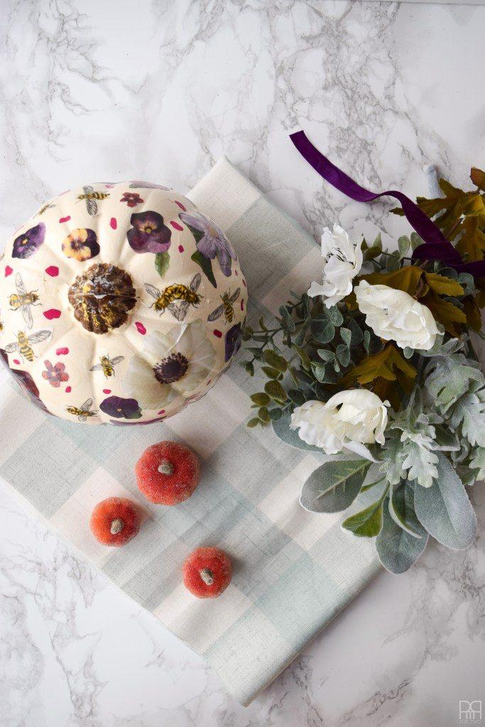 Decoupage Floral Pumpkins