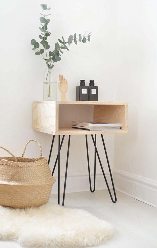 DIY mid-century nightstand