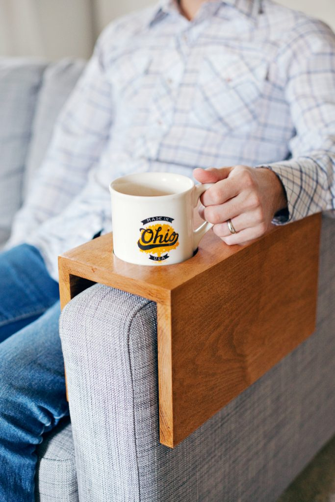 Wooden Sofa with Cup holder