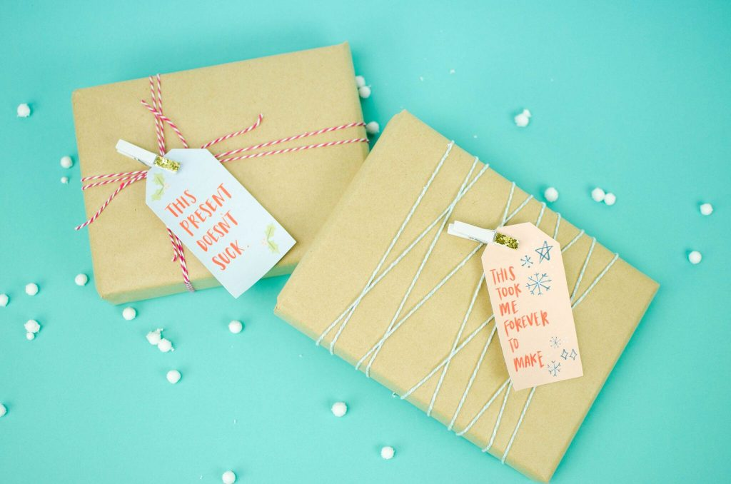 Funny Print and Cut Gift Tags
