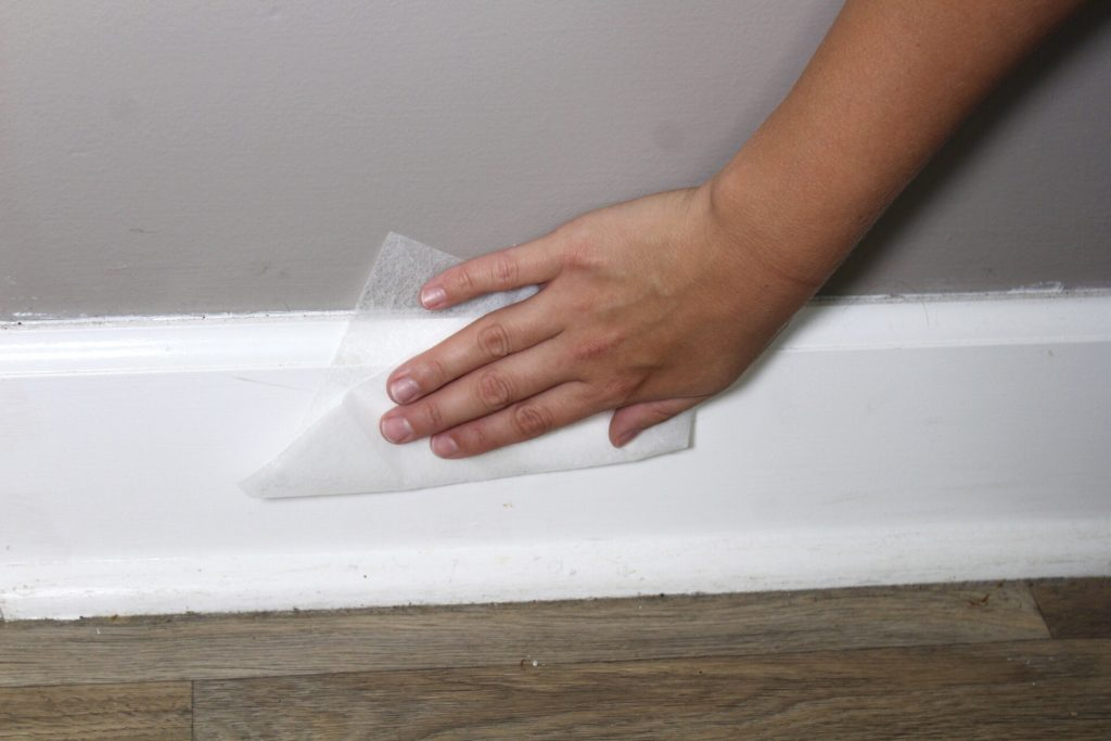 Dryer Sheets Keep Baseboards Clean and Dust Free