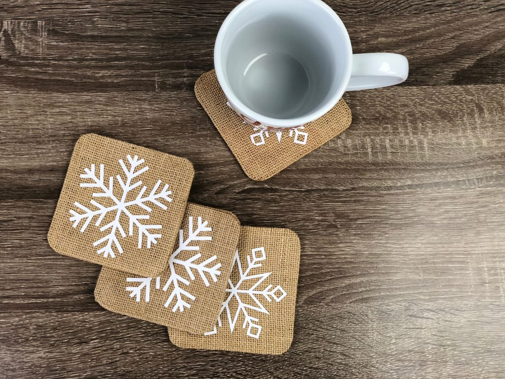 Iron-On Snowflake Coasters