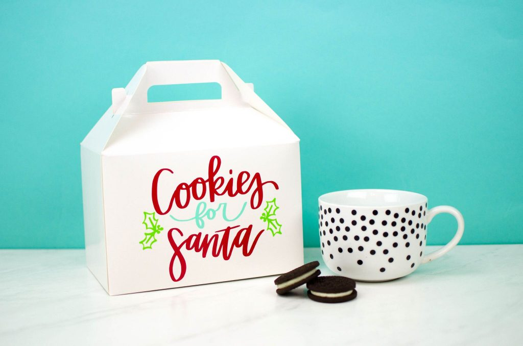 Fun Vinyl Paper Christmas Cookie Box