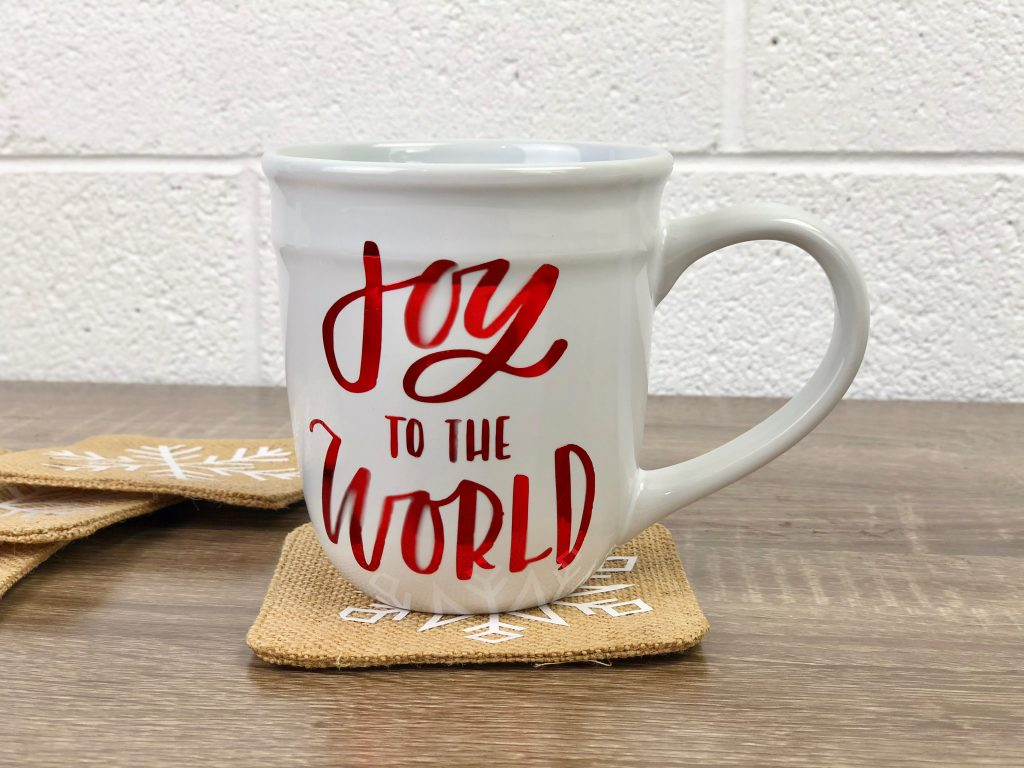 Fun Holographic Vinyl Holiday Mug