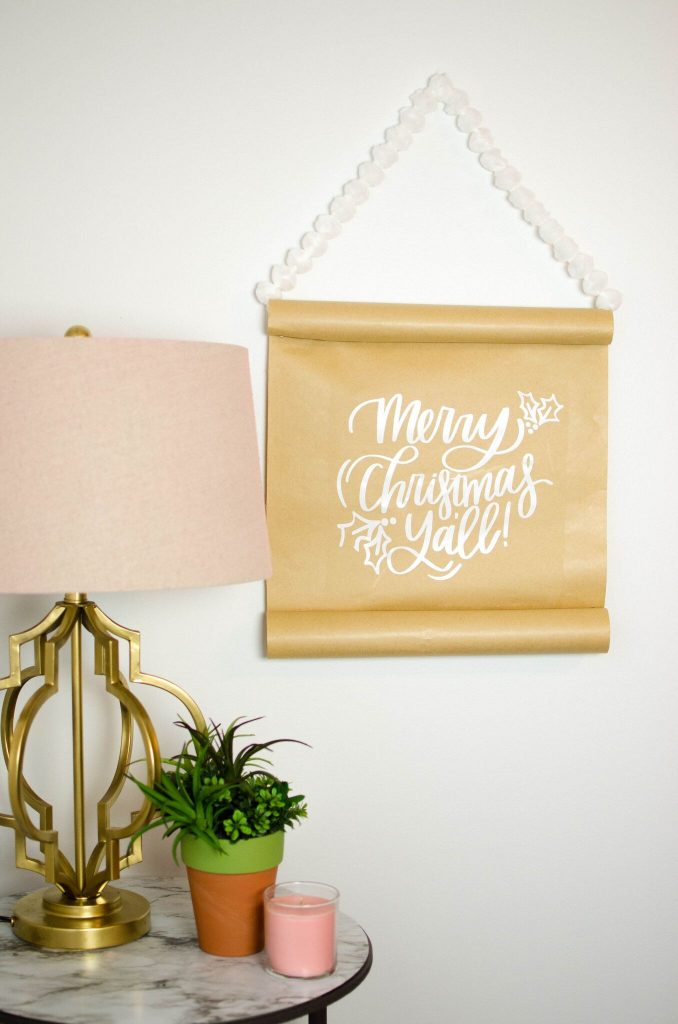 Cheap and Easy Vinyl Christmas Home Decor