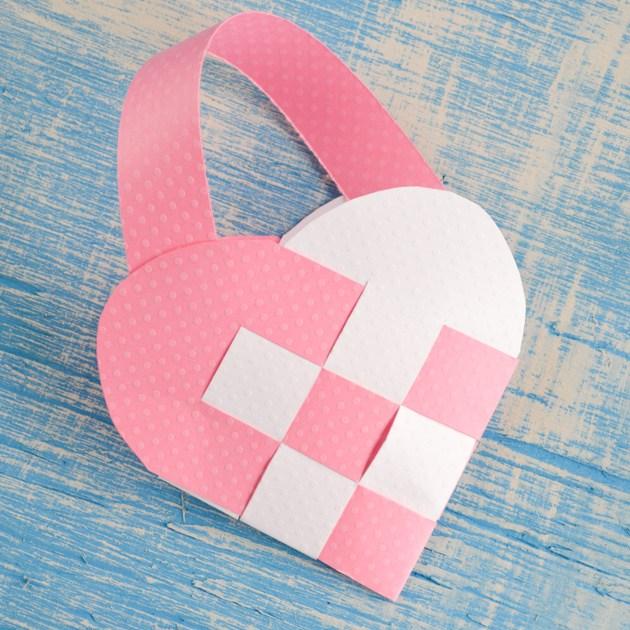 Woven Valentine's Heart Basket