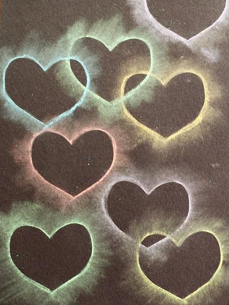 Heart Chalk Stencil Art