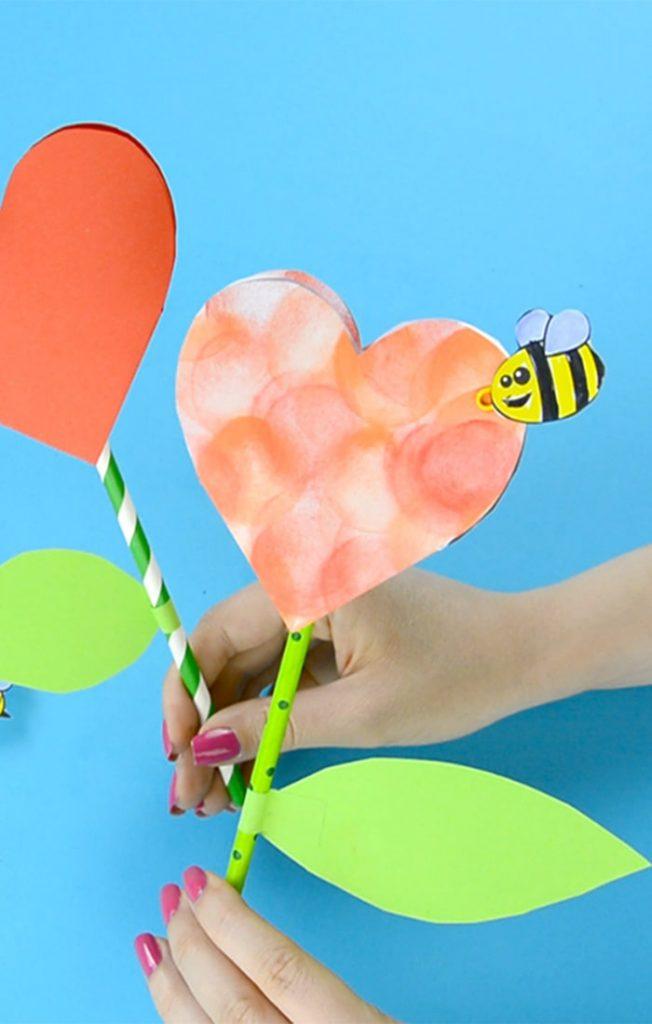 Paper Heart Flower