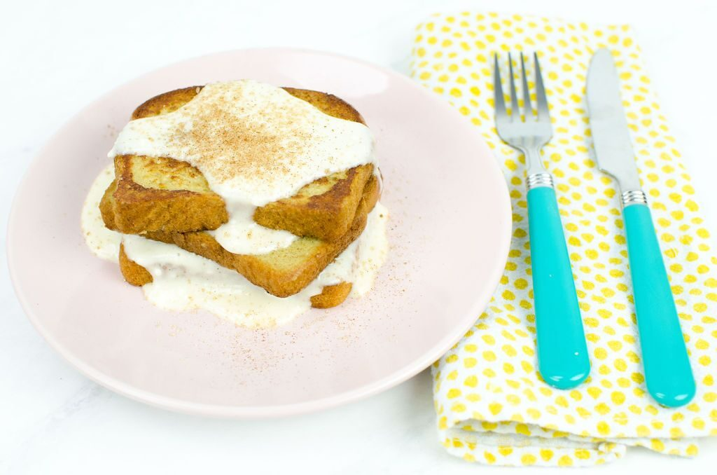Gluten Free Cinnamon French Toast With Cream Cheese Glaze