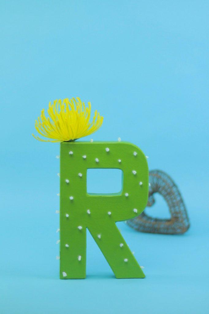 DIY Cactus Monogram