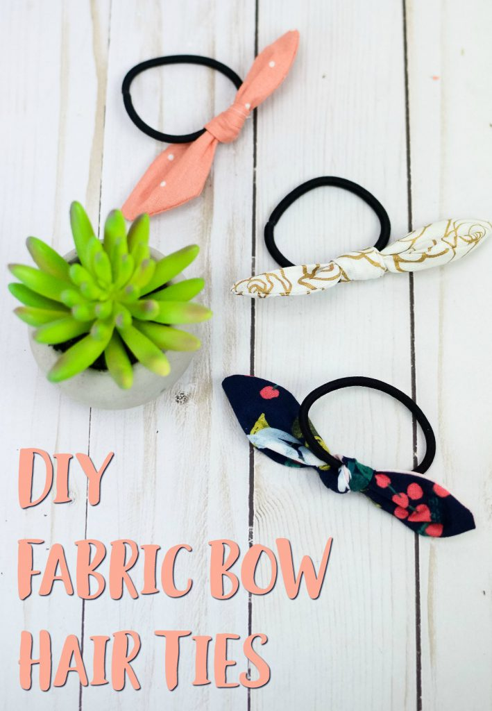 Diy Fabric Bow Hair Ties The Perfect Scrap Buster Project
