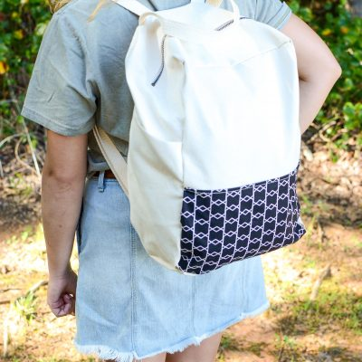 How to Sew a Color-blocked Backpack | A DIY Backpack You Will Want to Use thumbnail