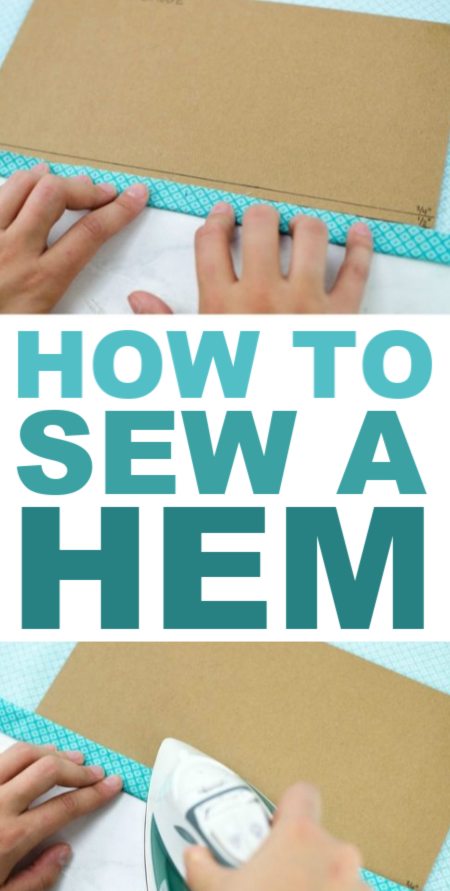 sewing a hem that's perfect every time