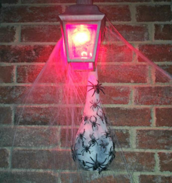 halloween spider egg sac decoration