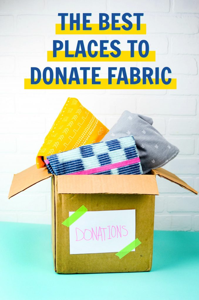 the best places to donate fabric