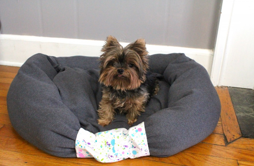 diy dog bed you can make from an old shirt