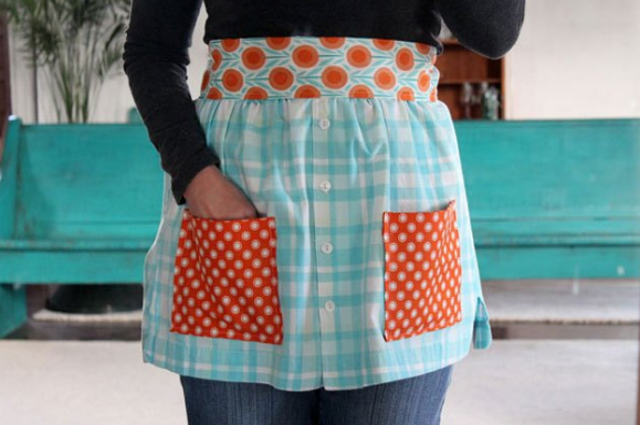 apron you can make from an old shirt
