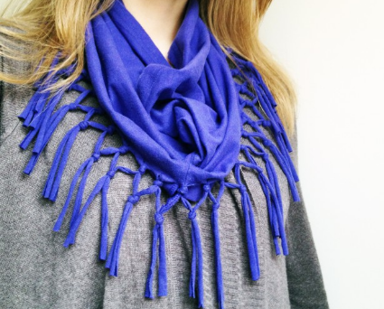 scarf you can make from an old shirt