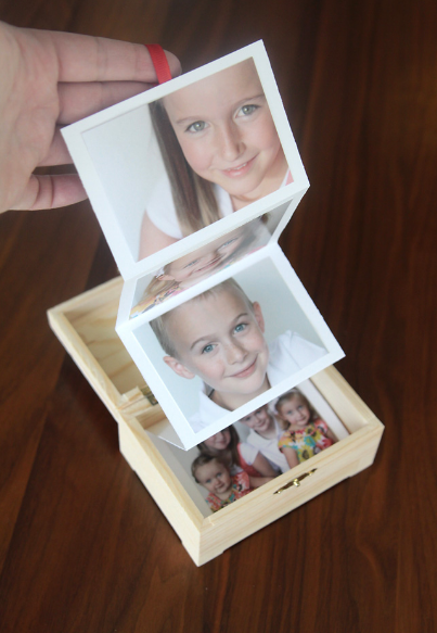 photo gift box - makes a great Christmas gift you can make on a budget