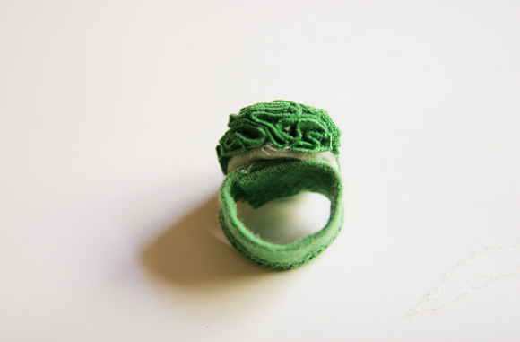 flower ring you can make from an old shirt
