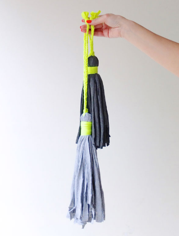 tassels you can make from an old shirt